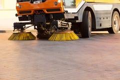 Veículo do líquido de limpeza de rua Fotografia de Stock Royalty Free