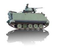 Veículo do veículo blindado de transporte de pessoal isolado no fundo branco Imagens de Stock Royalty Free