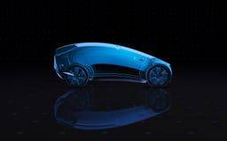 Veículo futuro do conceito do raio X lado da opinião da rendição 3d Fotografia de Stock