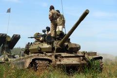 Veículo militar, tanque velho, tipo de WWII. Imagem de Stock Royalty Free