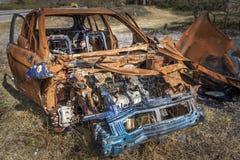 Veículo queimado Foto de Stock Royalty Free