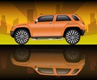 Veículo utilitário de desporto alaranjado Foto de Stock Royalty Free