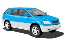 Veículo utilitário de desporto azul Foto de Stock Royalty Free