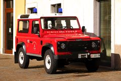 Veículo vermelho do firedept, 4x4 Foto de Stock Royalty Free