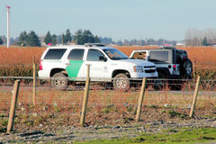 Veículos americanos da patrulha fronteiriça Fotos de Stock Royalty Free