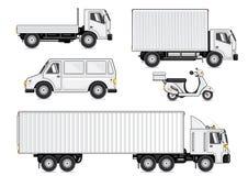 Veículos brancos Ilustração Royalty Free