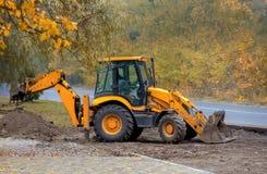 Veículos da construção outono Fotos de Stock