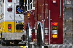 Veículos da emergência Fotografia de Stock