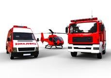 Veículos da emergência Foto de Stock