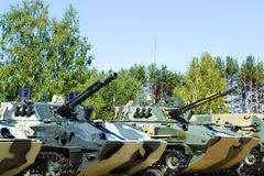 Veículos de combate transportados por via aérea Imagem de Stock