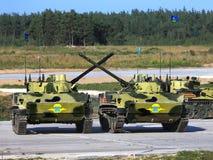 Veículos de combate transportados por via aérea Fotografia de Stock