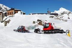 Veículos de Snowcat foto de stock royalty free