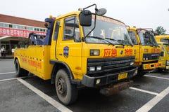 Veículos de socorro da emergência da via expressa Fotografia de Stock