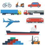 Veículos de transporte lisos ilustração do vetor