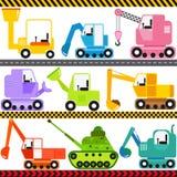Veículos do trator/engenharia/transporte ilustração stock