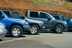 Veículos estacionados Imagens de Stock