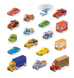 Veículos isométricos ilustração stock