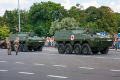 Veículos médicos KTO ROSOMAK da evacuação Fotografia de Stock