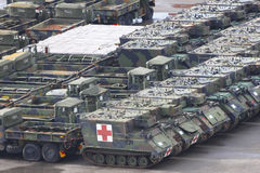 Veículos militares Fotografia de Stock