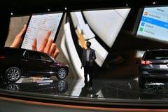 Veículos 2018 novos de Chevrolet na exposição na feira automóvel internacional norte-americana Foto de Stock