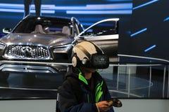 Veículos 2018 novos de Infiniti na exposição na feira automóvel internacional norte-americana Imagem de Stock Royalty Free