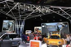 Veículos 2018 novos de Volkswagen na exposição na feira automóvel internacional norte-americana Imagens de Stock Royalty Free