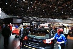 2018 veículos novos na exposição na feira automóvel internacional norte-americana Fotos de Stock