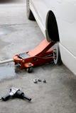 Veículos rodados reparados mecânico Fotografia de Stock