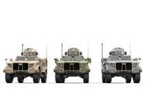 Veículos táticos da armadura leve militar - vista dianteira ilustração do vetor