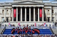 VE dzień, Trafalgar kwadrat Zdjęcie Royalty Free