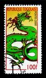 Ve el dragón de las FO, año del serie del dragón, circa 2000 Imagen de archivo