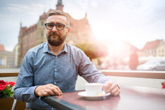 They've got the best coffee in this city Stock Images