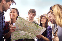 We've got lost, but who cares? Royalty Free Stock Images