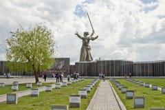 Vea el cementerio conmemorativo de los defensores de Stalingrad y del st Imagen de archivo libre de regalías
