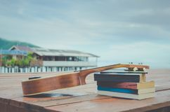 Vea el concepto tropical asiático caliente del vintage de las vacaciones del pueblo pesquero  Fotografía de archivo libre de regalías