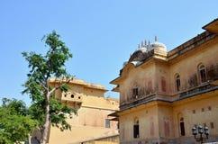 Vea el palacio de Makhavendra Bkhavan de la ciudad de la India de Jaipur Imagen de archivo