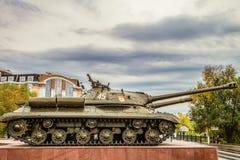 Vea el perfil el tanque soviético pesado is-3 durante la Segunda Guerra Mundial Foto de archivo libre de regalías