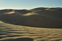Vea el top de dunas de arena imperiales de la duna de arena, California, los E.E.U.U. Fotos de archivo