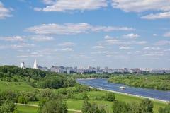 Vea en una curva del río 2 Imagen de archivo