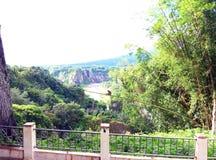 Vea la belleza del mono y la vista de la colina imagen de archivo libre de regalías