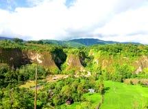 Vea la belleza del paisaje de las colinas y de los árboles fotografía de archivo libre de regalías