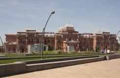 Vea la estación de tren en la ciudad de Kazán Rusia foto de archivo