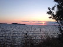Vea la puesta del sol Imagen de archivo libre de regalías