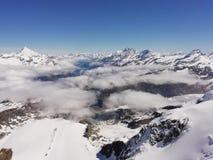 Vea a Mont Blanc 4000 m fotografía de archivo libre de regalías