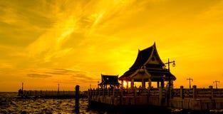 Vea una puesta del sol hermosa Fotos de archivo