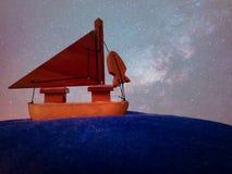 Vea y barco y cielo fotos de archivo libres de regalías