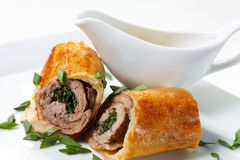 Free Veal Baked In Puff Dough Stock Photos - 24020733