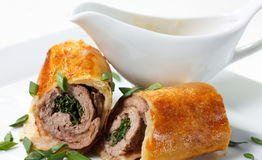 Veal Baked in Puff Dough Stock Photography