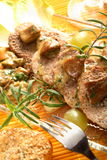 Veal with boletus Stock Image