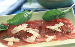 Veal Carpaccio Royalty Free Stock Photography